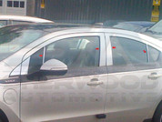 2013+ Chevy Volt Chrome Pillar Post Trim 8pc