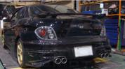 00-02 Tiburon Dual Round Exhaust Tip DIY Set 6pc