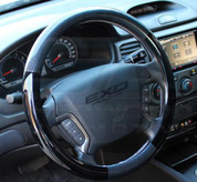 06.5-08 Optima Premium Carbon/Gloss Black Steering Wheel Cover