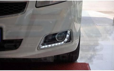 2013 chevy malibu led fog light drl replacement bezel set 2pc korean auto imports. Black Bedroom Furniture Sets. Home Design Ideas