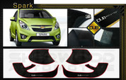 Chevy Spark DUB Edition Interior Door Cover Protector Set 4 p
