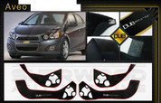 Chevy Aveo DUB Edition Interior Door Cover Protector Set 4 p