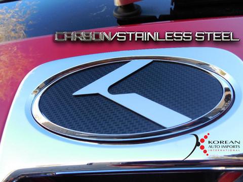 04-06 Amanti/Opirus CARBON/STAINLESS STEEL VIP K Emblem Badge Gr