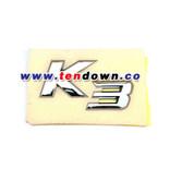 """2014+ Forte """"K3"""" Chrome Letter Emblem"""