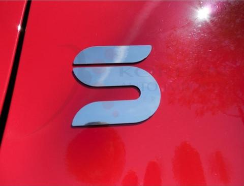 "07-09 Santa Fe ""S"" CHROME Body Accent Emblem Badge Logo Fender/"