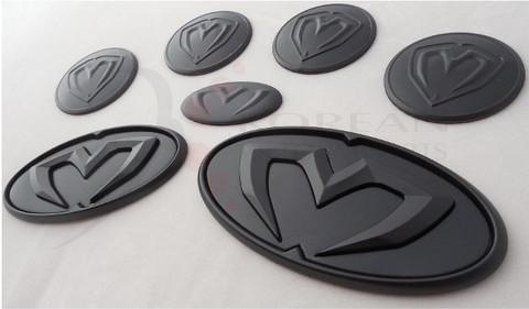 06-10 Accent / Verna M&S MATTE BLACK 7pc Emblem Badge Logo Packa