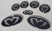 2013+ Elantra Coupe 3D M&S 7pc Emblem Badge Logo Grill Trunk Cap