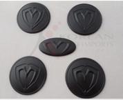 07-09 Amani/Opirus NEW 3D M&S MATTE BLACK Wheel Caps + Steering