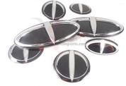 07-09 Amanti 3D T-LOGO 7pc Emblem Badge Set Grill Trunk Caps