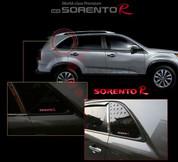 2014+ Sorento LED Rear C-Pillar Window Gloss Cover Set 2pc