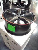 Eta Beta Tettsut X 19x8 Custom Matte Black/Red SEMA Wheels