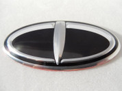 Loden 3D T-Logo Oval Steering Wheel Emblem for Kia & Hyundai Models