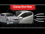 2011+ Optima K5 Chrome Window Visors