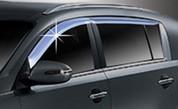 2011+ Sportage Chrome Window Rain Visors