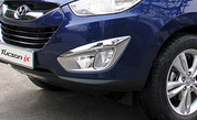 2010+ Tucson Chrome Fog Light Covers