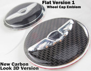 "2012-2014 Genesis Sedan Rspec 19"" LODEN ~3D/CARBON~ WING Wheel Cap Emblem Overlays"