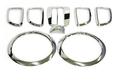 Soul Chrome Interior Kit Type 2 chrome speaker rings chrome shift trim chrome door handle surrounds chrome gear shift knob trim