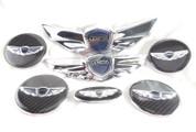 """2012-2013 Genesis Sedan 3.8 V6 17"""" Super-WING HOOD/TRUNK w/ Carbon/3D Steering & Caps 7pc"""