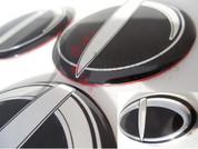 Accent / Verna NEW 3D Tomato T Wheel Caps + Steering Emblem 5pc
