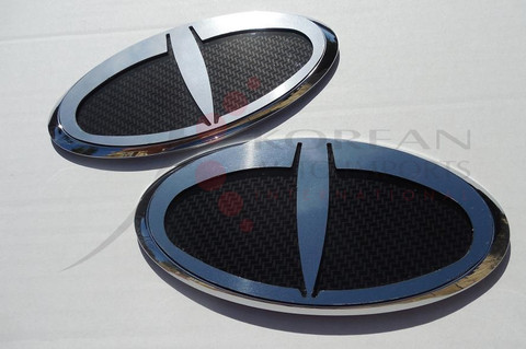 """2006 - 2010 Accent Verna LODEN """"T"""" Badge Emblem Package Grill/Trunk Front/Rear 2pc"""