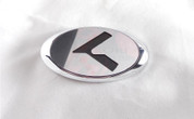 """2007+ RAY LODEN Platinum """"K"""" Replacement Steering Wheel Emblem"""