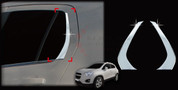 Opel Mokka Chrome Rear Window C-Pillar Trim Set 2pc