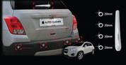 Buick Encore Chrome Rear Window Wiper Set w/ Back-up Sensor Trims 5pc