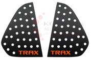 Chevy Trax BLACK/RED Sport Rear Window Plate Set 2pc