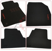 "Opel Mokka ""Trax"" Embroidered Black/Red Carpet Floor Mats 4pc Set"