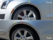 2013-2015 Cadillac ATS Fender Trim on 3M Tape without Cut Out