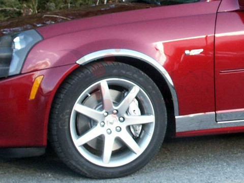 2003 2007 Cadillac Cts Chrome Wheel Well Trim By Saa 4