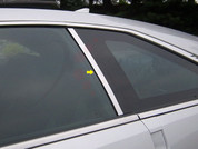 2010 - 2013 Cadillac CTS Coupe Chrome Pillar Post