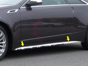 "2010 - 2013 Cadillac CTS Coupe Chrome ""L-Type"" Rocker Panel Trim"