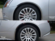 2010 - 2013 Cadillac CTS Coupe Chrome Fender Trim With Adhesive, Gasket