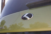 "2014 + Soul *NEW* LODEN COVER-UP ""METAL SKIN"" Carbon K Emblem Badge Grill Trunk"