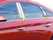 2015 Sonata Chrome / Stainless Steel Pillar Post Trim 6pc