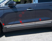 """2015 Lincoln MKC Stainless Steel / Chrome Accent Trim: 1.25"""" - 1.75"""" tapered width 6pc"""