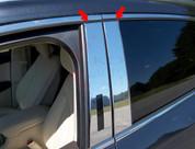 2015 Lincoln MKC Stainless Steel / Chrome Pillar Post kit w/ keyless access cutout 4pc