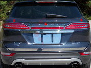 2015 Lincoln MKC Stainless Steel / Chrome Tail Light Surround Trim Kit 3pc