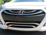 2012+ i30 / Elantra GT Stainless Steel / Chrome Front Grille Accent - Lower Grille only 2pc