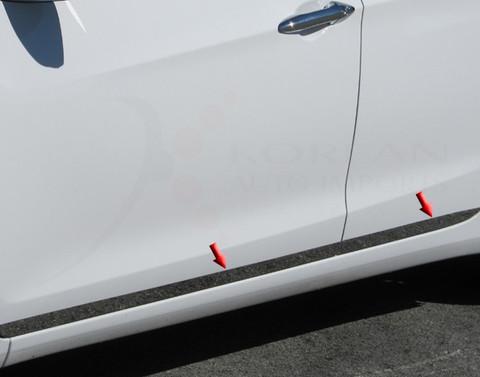 "2012+ i30 / Elantra GT Stainless Steel / Chrome Rocker Panel 1.5"" width - Lower Kit *on doors only 4pc"