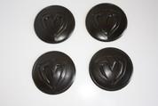 "LODEN BLACK ""M"" Wheel Cap Emblem Overlay Set 4pc for Kia Models"