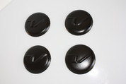 "Veloster LODEN BLACK ""V"" Wheel Cap Emblem Overlay Set 4pc"