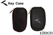 """K"" Logo Leather Zipper Smart Key Case Pocket"
