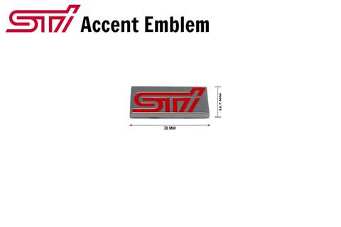 STI Mini Plaque Accent Emblem Chiclete Subaru WRX BRZ