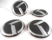 "2015 + Sedona Carnival YP LODEN Carbon/3D ""K"" Wheel Cap Emblem Overlay Set 4pc for Kia Model Vehicles"