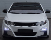 2010-2013 Forte Koup Road Runs Full Replacement Front Bumper w/ LED DRL