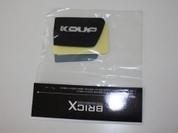 2009 - 2013 Forte Koup Glass Black Interior Door Handle Shells Set 2