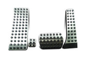 Mercedes-Benz GLC Aluminum Silver Sport Pedal Set 4pc