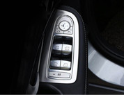 Mercedes-Benz GLC Silver Door Control Cover Surround Set 4pc